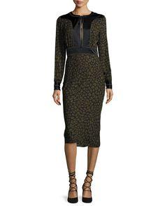 Veronica Beard Drifter Long-Sleeve Dress $650.00