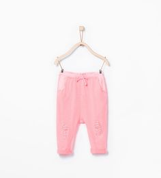 Knee patch trousers-Leggings & Trousers-Baby girl (3 months-3 years)-KIDS | ZARA United Arab Emirates