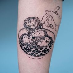 Food Tattoos to Stuff Your Face With Hand Tattoos, Body Art Tattoos, Cool Tattoos, Tatoos, Thigh Tattoos, Essen Tattoos, Kunst Tattoos, Piercing Tattoo, Get A Tattoo