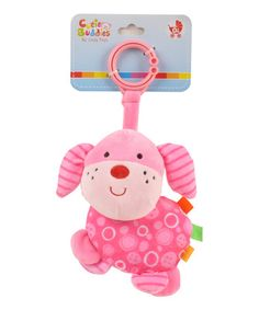 Take a look at this Pink Puppy Plush Toy by Linzy Toys on #zulily today!