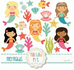 Mermaid clipart cute mermaid - pencil and in color mermaid clipart . Mermaid Under The Sea, Under The Sea Theme, Silhouette Clip Art, Mermaid Silhouette, Mermaid Clipart, Doodle Characters, For Elise, Cute Mermaid, Mermaid Art