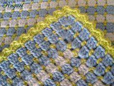 Up in the attic: Border or edging for crochet blanket
