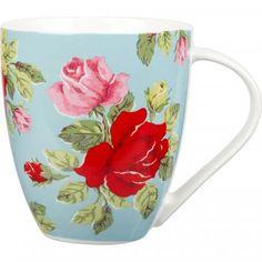 Home: Eleven Tea-Worthy eBay Mugs (Cath Kidston Royal Rose Blue Crush Mug   eBay)
