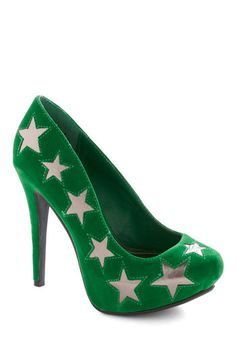 Never Too Emerald Heel, #ModCloth