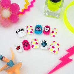 ネオンカラフルポップなアートネイル | MiCHi | ネイルチップ(つけ爪)通販専門店