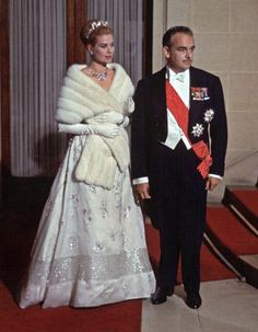 Princess Grace and Prince Rainier. Official visit in Italy, 1959.