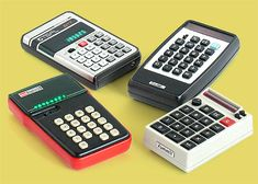 Antique Technology collectibles: Teal 817 calculator, RBM Scientific, Sharp Elsi-Mate, Summit calculator by NCE Nuclear
