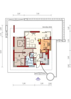 Tori II - projekt domu - Archipelag Floor Plans, Floor Plan Drawing, House Floor Plans