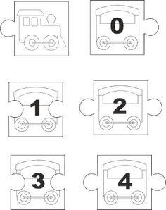 Classe prima, matematica: giochi puzzle numeri fino al 10