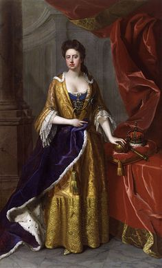Queen Anne (6 February 1665 – 1 August 1714 ascended the thrones of England, Scotland and Ireland on 8 March 1702. On 1 May 1707, under the Act of Union, two of her realms, the kingdoms of England and Scotland, were united as a single sovereign state, the Kingdom of Great Britain.
