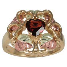 Black Hills Gold Garnet Ring