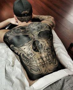 55 Best Tattoos Designs for Men and Women - Tattoo - Tatoo Ideen Amazing 3d Tattoos, Best 3d Tattoos, Tattoos 3d, Cool Back Tattoos, Back Piece Tattoo, Back Tattoos For Guys, Chest Piece Tattoos, Bild Tattoos, Badass Tattoos