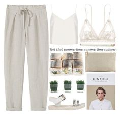 """""""summertime sadness"""" by evangeline-lily ❤ liked on Polyvore featuring Toast, Motel, even&odd, Lauren Merkin, Hanky Panky, Kate Spade, topshop and toast"""