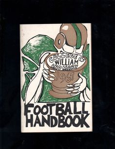 1967 College of William and Mary Football Handbook Over 60 Pages Great Shape | eBay