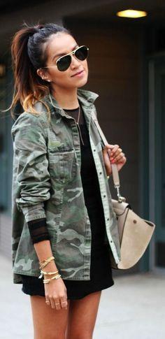 Camo jacket.
