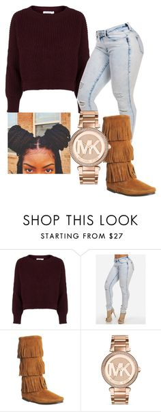 """""""{at night I think of you❣}"""" by wavy-chii ❤ liked on Polyvore featuring Topshop, Minnetonka and Michael Kors"""