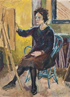 Duncan Grant (UK, - Portrait of Lindy Guinness - 1963 - oil on board x in. x cm) Duncan Grant, Vanessa Bell, Virginia Woolf, Figure Painting, Painting & Drawing, Bloomsbury Group, Post Impressionism, Guinness, Contemporary Artists