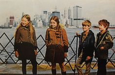 User: guest   pass: 123456  1970 kids on Staten Island Ferry NYC World Trade Center under construction New York City WTC
