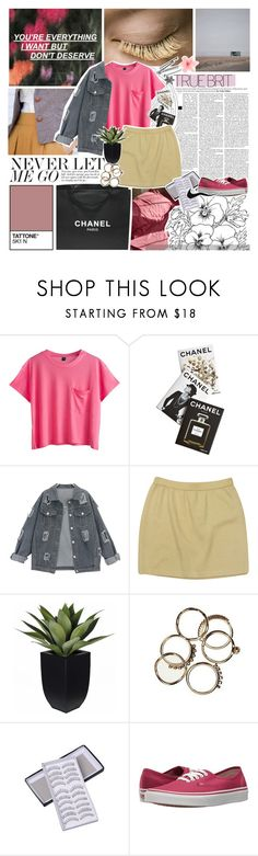 """NEVER LET ME GO /8/"" by emmas-fashion-diary ❤ liked on Polyvore featuring Chanel, Assouline Publishing, St. John and Vans"