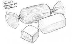 Как нарисовать конфету карандашом