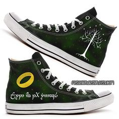 Your Name in Elvish 'Custom Converse' /  the Lord of the Rings  / Elf on Etsy, $75.00