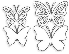 Butterfly Party, Butterfly Birthday, Butterfly Crafts, Butterfly Flowers, Flower Crafts, Butterfly Mobile, Butterfly Template, Leaf Template, Flower Template