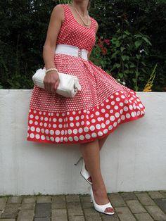 GORGEOUS 1940/50s VINTAGE STYLE SWING DANCE DRESS 12 ,ROCKABILLY | eBay