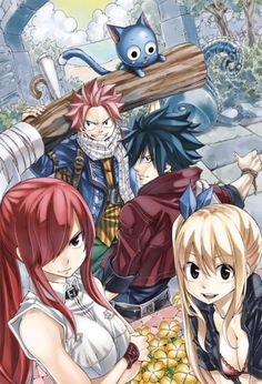 The thing I really love about anime is the unbreakable comradery that forms between the characters and how they are willing to sacrifice everything to save they're Nakama's <3     art by hiro mashima