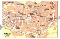 Tétouan - Plan Medina