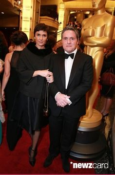 Brad Grey, right, and Cassandra Huysentruyt arrive at the Oscars on Sunday, Feb. 22, 2015, at the Dolby Theatre in Los Angeles. (Photo by Alexandra Wyman/Invision/AP)