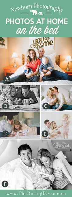 Cute At Home Newborn Photos on the Bed