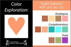 Eva Maria Keiser Designs: Explore Color:  Light Salmon