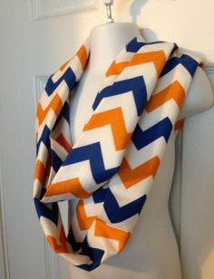 Denver Broncos chevron infinity scarf NFL accessories  on Etsy, $18.00