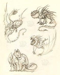 Sketch request: There Be Dragons by Vattukatt on DeviantArt