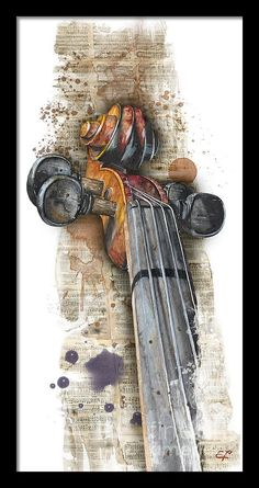 Aquarell Painting - Violin 01 Elena Yakubovich by Elena Yakubovich wasserfarben, Violin 01 Elena Yakubovich Violin Painting, Violin Art, Violin Music, Violin Drawing, Violin Tattoo, Violin Sheet, Music Music, Music Notes, Music Drawings