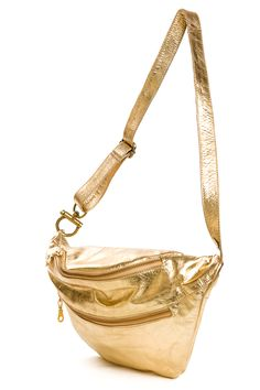 Mi-Pac Gold Bum Bag - Metallic Rose Gold | Bags & Accessories ...