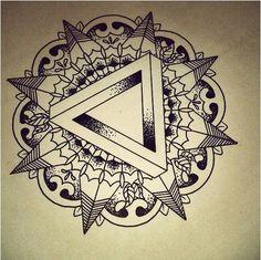mandala tattoo - interesting triangle motif