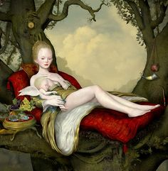 Ray Caesar, Mother and Child, Detail - The Trouble with Angels, Dorothy Circus Gallery