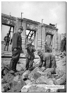 ILLUSTRATED HISTORY: RELIVE THE TIMES: Unseen Rare Images From Battle Of Stalingrad: Stalingrad. 1947. After it was all over. German POW made to work as laborers. Here they are clearing the rubble.