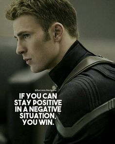 Stay positive in a negative situation