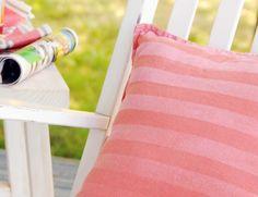 DIY Project: Sunkissed Ombre Stripe Pillow | Design*Sponge