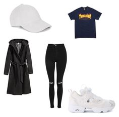 """🤷🏽‍♀️"" by ranbe on Polyvore featuring Mode, Topshop, Reebok und H&M"