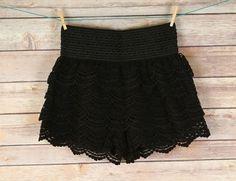 Cotton Crochet Lace Shorts