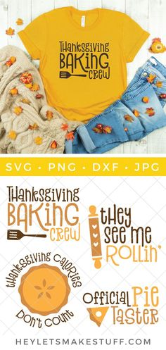 Are you on the Thanksgiving baking crew? Maybe you're the of the official pumpkin pie tasters. Either way, This yummy fall baking SVG bundle is perfect for all of your Thanksgiving and fall baking day crafts! #svg #cricut #silhouette #cutfiles #svgcutfiles #holidaycrafts #fallcrafts