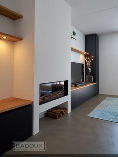 Living Room Decor Fireplace, Home Fireplace, Modern Fireplace, Living Room Tv, Fireplace Design, Living Room Modern, Home And Living, Interior Design Living Room, Living Room Designs