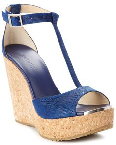 """Jimmy Choo """"Pela"""" Leather Wedge Sandal is on Rue. Shop it now. Wedge Heels, High Heels, Leather Wedge Sandals, Boutique, Jimmy Choo, Fashion Beauty, Product Launch, My Style, Zapatos"""