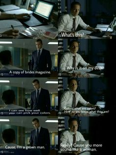 Harvey giving Mike an engagement gift. Suits Tv Series, Suits Tv Shows, Series Movies, Movies And Tv Shows, Tv Shows Funny, Best Tv Shows, Best Shows Ever, Harvey Specter Suits, Suits Harvey
