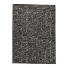 IKEA STENLILLE Rug, low pile Grey 170x240 cm The dense, thick pile dampens sound and provides a soft surface to walk on.