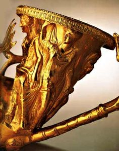 Panagyurishte treasure - end of a horn, Thracian, 4th-3rd century BCE, gold