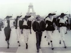 French Designer Claude Montana and models 1979, dramatic 1980's fashion is born !!